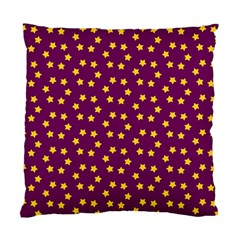 Star Christmas Red Yellow Standard Cushion Case (Two Sides)