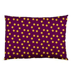 Star Christmas Red Yellow Pillow Case