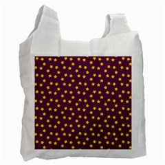 Star Christmas Red Yellow Recycle Bag (One Side)