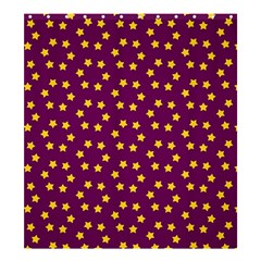 Star Christmas Red Yellow Shower Curtain 66  x 72  (Large)
