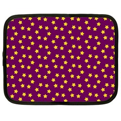 Star Christmas Red Yellow Netbook Case (XL)