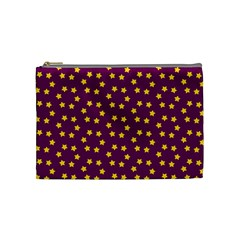 Star Christmas Red Yellow Cosmetic Bag (Medium)