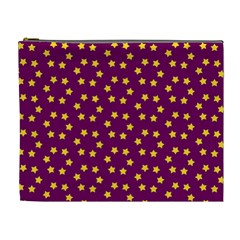 Star Christmas Red Yellow Cosmetic Bag (XL)