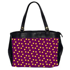 Star Christmas Red Yellow Office Handbags (2 Sides)