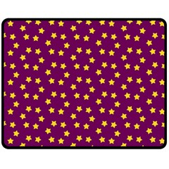 Star Christmas Red Yellow Fleece Blanket (Medium)