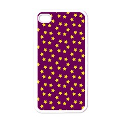 Star Christmas Red Yellow Apple iPhone 4 Case (White)