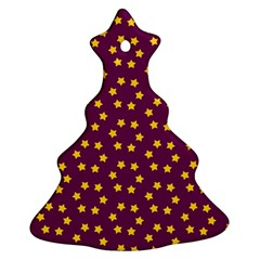 Star Christmas Red Yellow Christmas Tree Ornament (Two Sides)