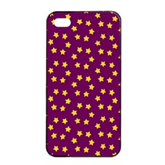 Star Christmas Red Yellow Apple iPhone 4/4s Seamless Case (Black)