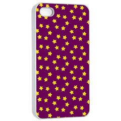 Star Christmas Red Yellow Apple iPhone 4/4s Seamless Case (White)