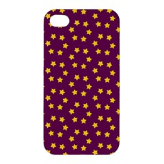 Star Christmas Red Yellow Apple iPhone 4/4S Hardshell Case