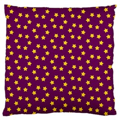 Star Christmas Red Yellow Large Cushion Case (Two Sides)