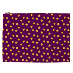 Star Christmas Red Yellow Cosmetic Bag (xxl)