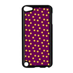 Star Christmas Red Yellow Apple iPod Touch 5 Case (Black)