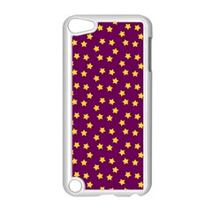 Star Christmas Red Yellow Apple iPod Touch 5 Case (White)