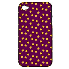 Star Christmas Red Yellow Apple iPhone 4/4S Hardshell Case (PC+Silicone)