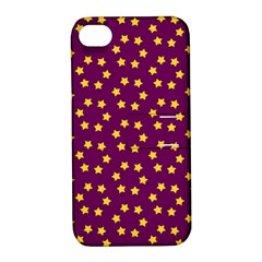 Star Christmas Red Yellow Apple iPhone 4/4S Hardshell Case with Stand