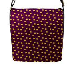 Star Christmas Red Yellow Flap Messenger Bag (L)