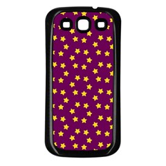 Star Christmas Red Yellow Samsung Galaxy S3 Back Case (black)