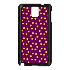 Star Christmas Red Yellow Samsung Galaxy Note 3 N9005 Case (Black)