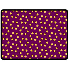 Star Christmas Red Yellow Double Sided Fleece Blanket (Large)