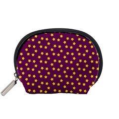 Star Christmas Red Yellow Accessory Pouches (small)
