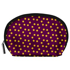 Star Christmas Red Yellow Accessory Pouches (Large)