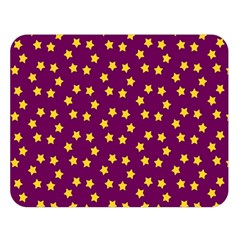 Star Christmas Red Yellow Double Sided Flano Blanket (Large)