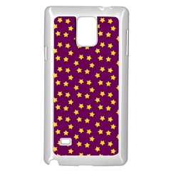 Star Christmas Red Yellow Samsung Galaxy Note 4 Case (White)