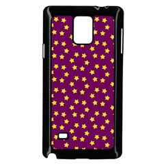 Star Christmas Red Yellow Samsung Galaxy Note 4 Case (Black)