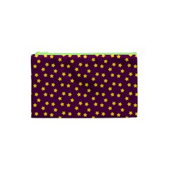 Star Christmas Red Yellow Cosmetic Bag (xs)