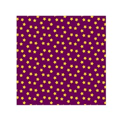 Star Christmas Red Yellow Small Satin Scarf (Square)