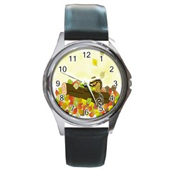Squirrel Round Metal Watch