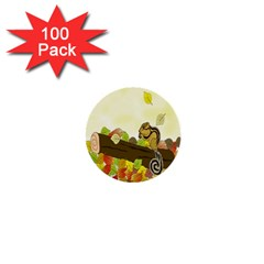 Squirrel 1  Mini Buttons (100 Pack)