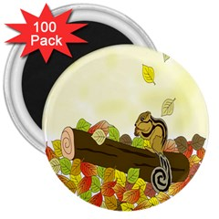 Squirrel 3  Magnets (100 pack)