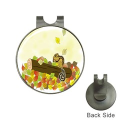 Squirrel Hat Clips with Golf Markers