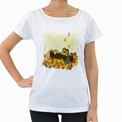 Squirrel Women s Loose-Fit T-Shirt (White)