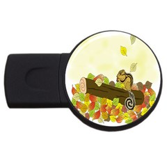 Squirrel USB Flash Drive Round (4 GB)