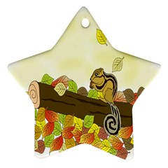 Squirrel Star Ornament (Two Sides)