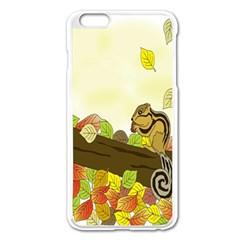 Squirrel Apple iPhone 6 Plus/6S Plus Enamel White Case