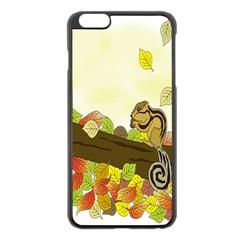 Squirrel Apple Iphone 6 Plus/6s Plus Black Enamel Case
