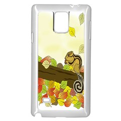 Squirrel Samsung Galaxy Note 4 Case (white)