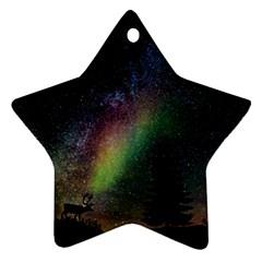 Starry Sky Galaxy Star Milky Way Ornament (Star)
