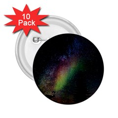 Starry Sky Galaxy Star Milky Way 2.25  Buttons (10 pack)