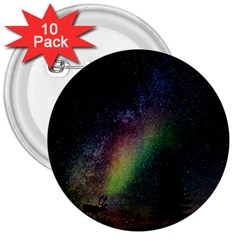 Starry Sky Galaxy Star Milky Way 3  Buttons (10 pack)