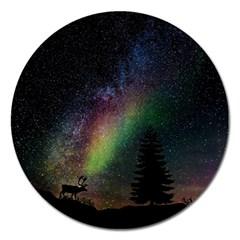 Starry Sky Galaxy Star Milky Way Magnet 5  (Round)