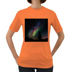 Starry Sky Galaxy Star Milky Way Women s Dark T-Shirt