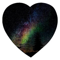 Starry Sky Galaxy Star Milky Way Jigsaw Puzzle (Heart)
