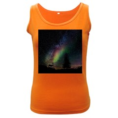 Starry Sky Galaxy Star Milky Way Women s Dark Tank Top