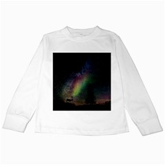 Starry Sky Galaxy Star Milky Way Kids Long Sleeve T-Shirts