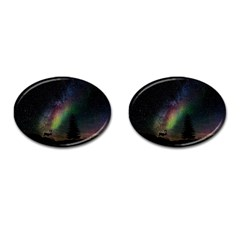 Starry Sky Galaxy Star Milky Way Cufflinks (Oval)